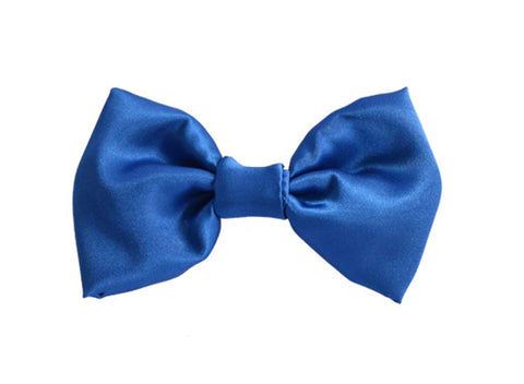 Royal Blue Satin Bow Tie for dog in wedding