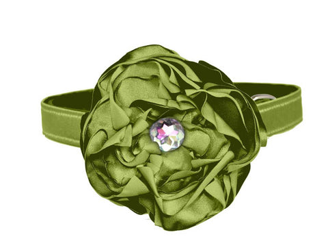 sage peridot green flower for dog in wedding