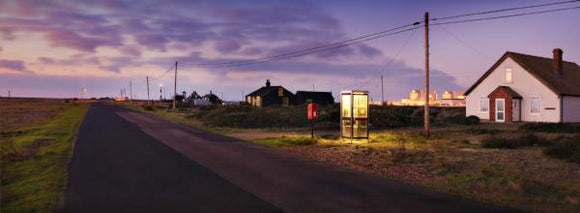 dungeness phone box at dawn