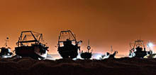 trawlers at night