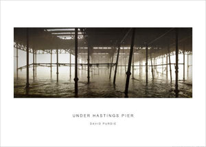 under hastings pier (misty one) poster