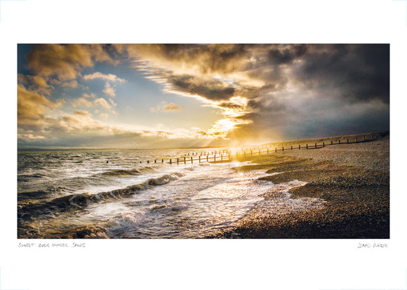 sunset over camber sands poster