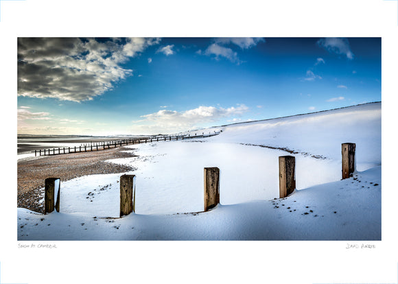 snow at camber poster