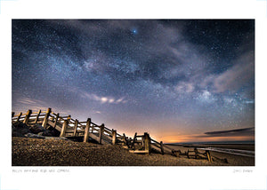 milky way over camber poster