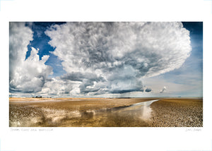 storm clouds over winchelsea beach poster