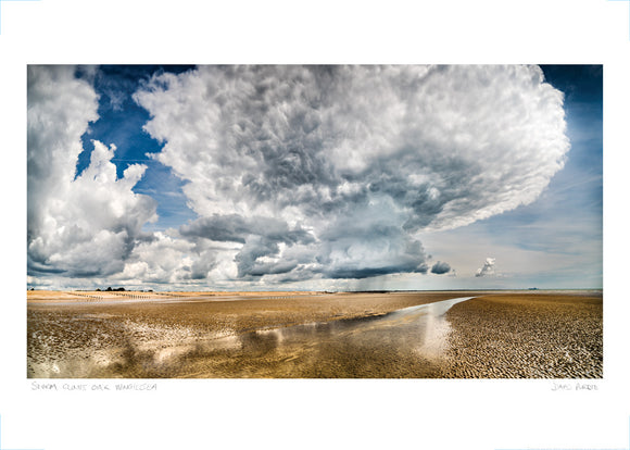 OUT OF STOCK storm clouds over winchelsea beach poster