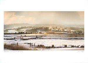 snow over the fields at pett level