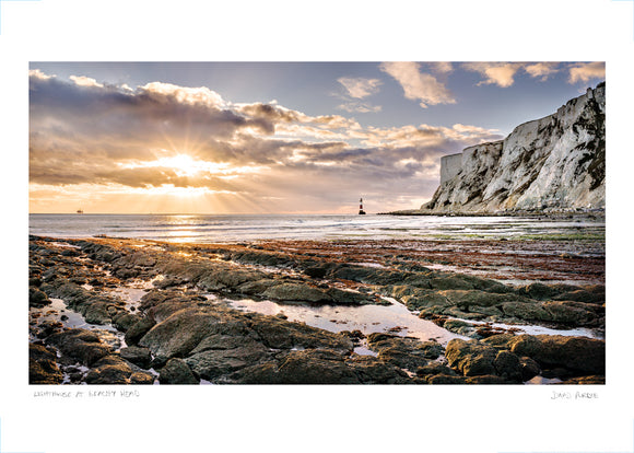 beachy head lighthouse poster