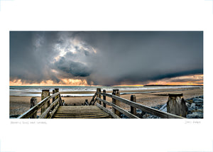 dramatic sky over camber poster