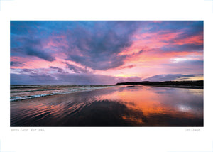 winter sunset pett level poster