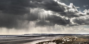 sun and rain from the dunes at camber