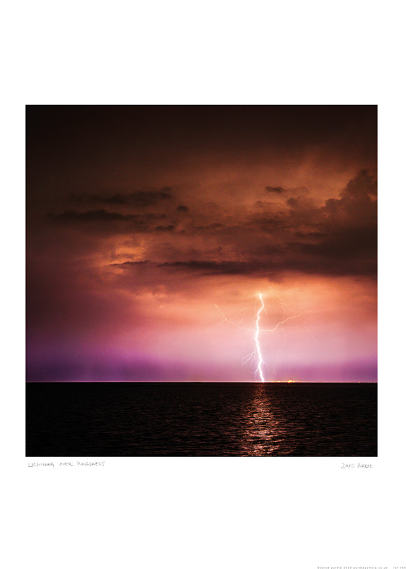 lightning over dungeness poster