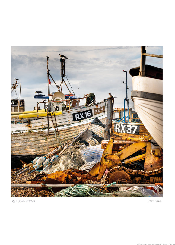 RX16 Hastings Fishing boat poster