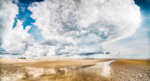 storm clouds over winchelsea beach canvas