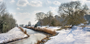 frozen canal at winchelsea