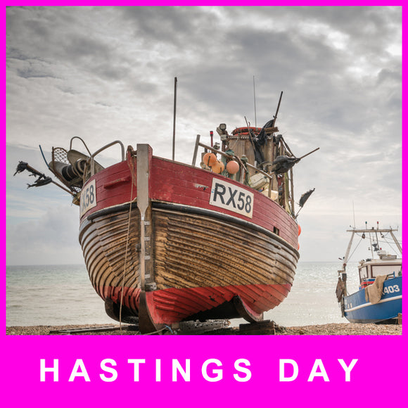 Hastings Fishing boats, Huts and Pier - Saturday 9 November 2019