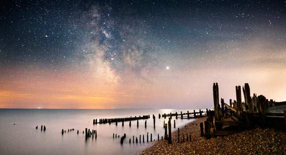 Jupiter from the old lifeboat house Rye Harbour canvas