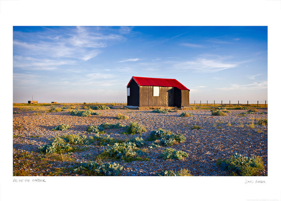 red hut rye harbour poster