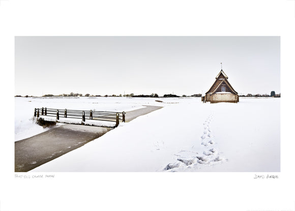 fairfield church in the snow poster