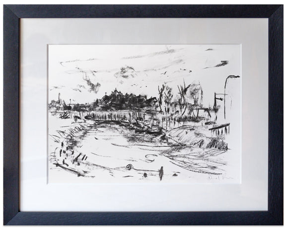signed print of rye from the rother