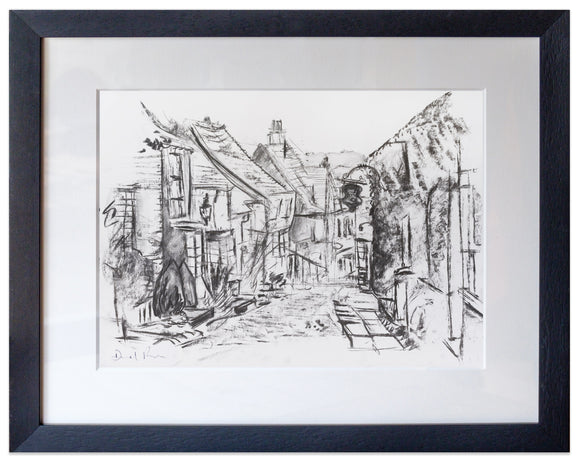 signed print of mermaid street rye