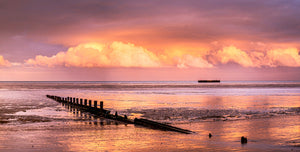 Littlestone and Mulberry Harbour at Sunset