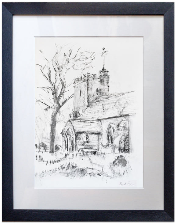 signed print of St Augustine, Snave