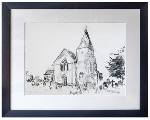 signed print of St Clement, Old Romney
