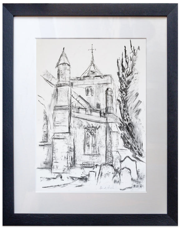 signed print of St Mary's Church Rye