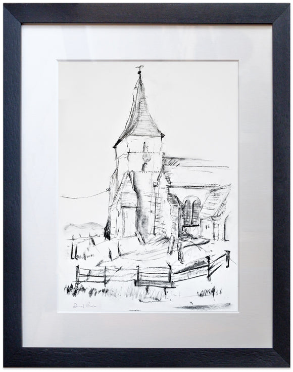 signed print of St Mary the Virgin, St Mary in the Marsh