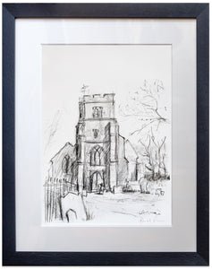 signed print of St Peter and St Paul, Newchurch