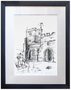 signed print of st george's ivychurch