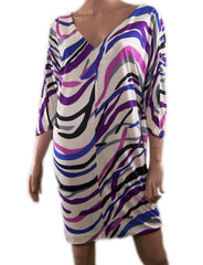New Diane von Furstenberg Clara Silk Jersey Mini Length Tunic Dress-Abigail Prada