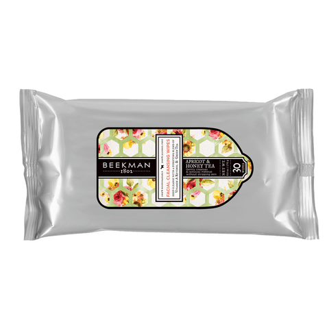 2-Pack Beekman Facial Cleansing Wipes - Apricot & Honey Tea