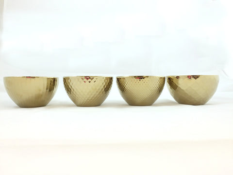Gold Ceramic Bowls - Set of 4