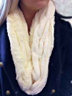 Cozy Infinity Scarf in Cream