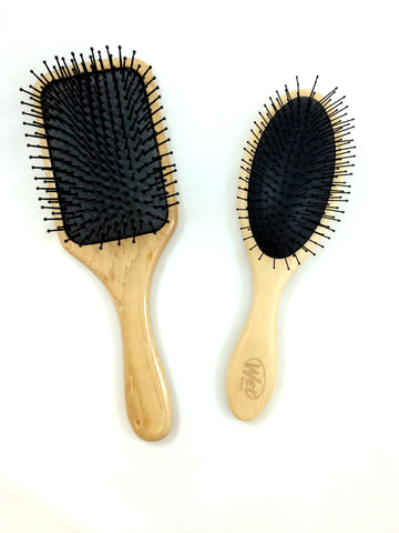 Professional Wood Hair Brush in Paddle or Oval