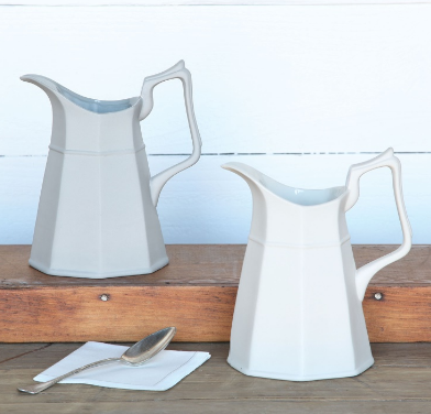 Galley Pitcher in White