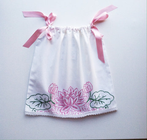 Embroidered Pillowcase Dress