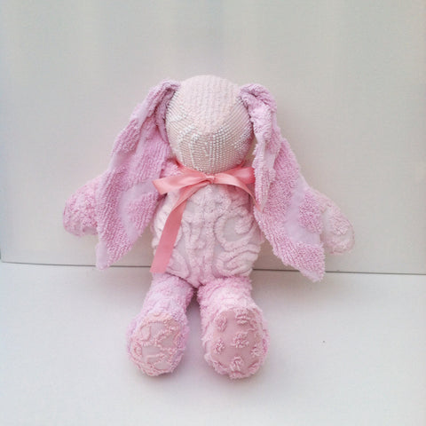 Vintage Chenille Bunny Pinks 22""