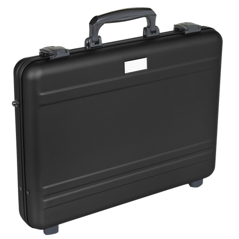 "MLINE Aluminum Attache Black 15"" Slim Laptop Case"