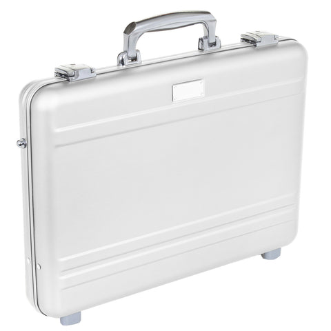 "MLINE Aluminum Attache Silver 15"" Slim Laptop Case"