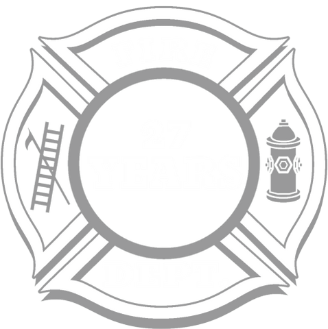 Fire Department Fire Fighter Stencil Large