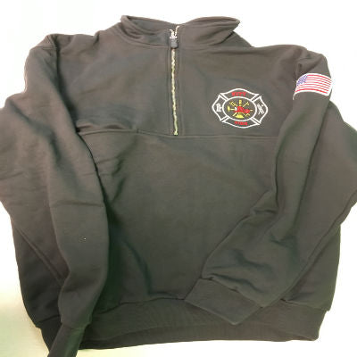Fire Department Clothing Half Zip Custom Long Sleeve