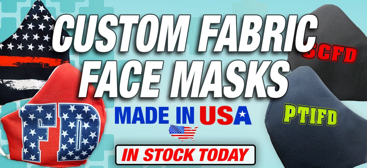 Custom Fabric Face Masks; Made in USA; In Stock Today