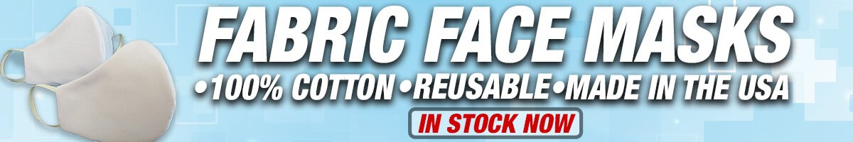 Fabric Face Masks: 100% Cotton, Reusable, Made in the USA; In Stock Now