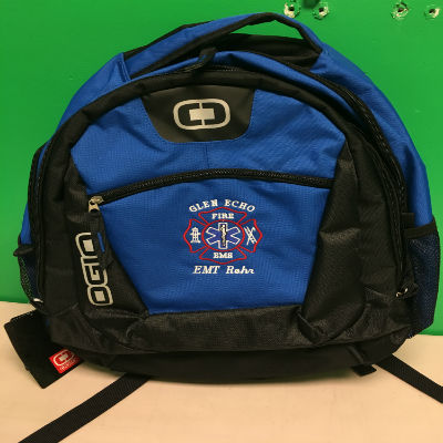 Custom Fire Department Clothing Custom Fire Department Backpack with Maltese