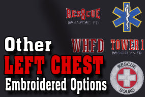 Custom Embroidered EMS, Tower, Engine, and Other Options