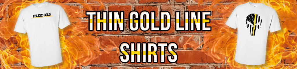 Thin Gold Line Shirts for Dispatchers