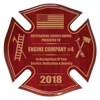Custom Firefighter Awards and Plaques